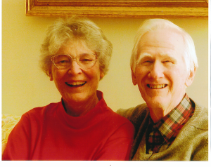 Ed and Jean in the office the last day before retirement, 2003.  Photo by Kim Christman.