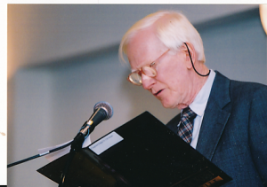 Ed gave the invocation at the 2001 Annual Employee Luncheon.