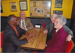 "They also went to Shorty's Famous Hot Dogs, which is still a favorite in Wake Forest. Ed and Jean enjoyed sharing their college experiences with each new generation of Wake Forest students, through many day long field trips to the ""old campus,"""
