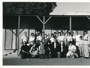 Ed and Jack Noffsinger, front center, with the Wake Forest student group visiting Europe and the Middle East in 1963.