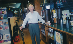 One of Ed's favorite honors — among the many bestowed at retirement — was his Lifetime Coffee Card for the Wake Forest University Bookstore.