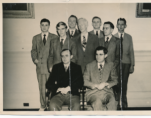 Ed as a member of the Wake Forest College Debate Team.  Late 1940s.