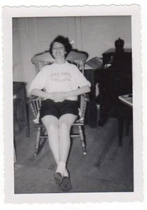 Jean in Apt 3-C, Faculty Apartments, fall of 1957.